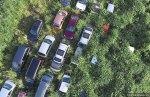 Μερικά αυτοκίνητα έχουν εξαφανιστεί εντελώς από την πυκνή βλάστηση