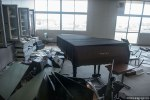 Μια αίθουσα πιάνου σε μια τάξη σε σχολείο στη Φουκοσίμα